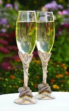 Country Flair Western Theme Wedding Toasting Flutes (29214)