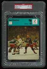 PSA 8 STICKS with BOBBY HULL 1978 Sportscaster Hockey Card #50-03