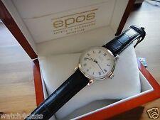 epos Emotion Mechanical Guilloche Dial Swiss Dress Watch White 3390 ETA 2892-A2