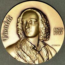 MUSIC GENIUS / VIVALDI / ITALIAN COMPOSER BRONZE MEDAL BY H.J.. Exonumia. M.10 b