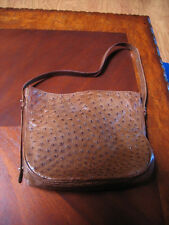 Gently Used Desmo Genuine Ostrich HandBag - Brown