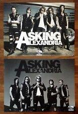 ASKING ALEXANDRIA Ltd Ed 2 New HUGE RARE Posters Lot +FREE Metal/Rock Poster!