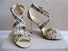 JIMMY CHOO Metallic Striped Mesh Shoes. Size 35/US 5. $795 NIB