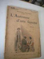 L'Automne D'Une Femme - Marcel Pr - 0.95 Cent Flammarion Editeur- IN French