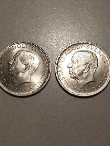 2 - 1973 Sweden 5 Krona Coin Swedish Adolf Sveriges Konung Gustaf VI