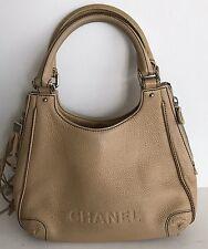 Rise- On Chanel Beige Leather Fringe Shoulder Bag