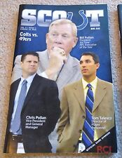 INDIANAPOLIS COLTS - SAN FRANCISCO 49ERS 2010 GAME PROGRAM - POLIAN - MINT!