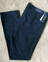 """RALPH LAUREN POLO MEN'S NAVY SLIM FIT CHINOS TROUSERS PANTS - 36"""" - NEW & TAGS"""
