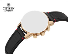Citizen Black Leather w/ Red Stitching band for Eco-Drive Primo CA0683-08E