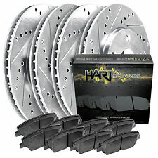 2000-2005 A6,Passat Full Kit Hart Drilled Slotted Brake Rotors and Ceramic Pads