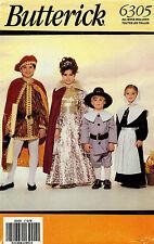 Butterick Children's Costume Pattern 6305 Size XS-L UNCUT