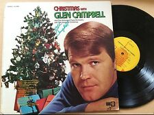 """GLEN CAMPBELL Signed """"Christmas With Glen Campbell"""" RARE AUTOGRAPHED ALBUM W/COA"""