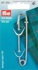 Prym Kiltnadel Messing rostfrei 76mm silber  1Stck  081605