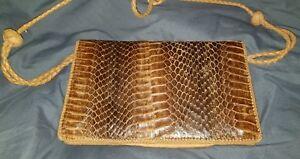 Vintage Cobra Snakeskin Handbag Clutch Purse