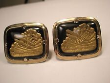 Bi Plane in the Clouds Vintage Cuff Links flying gift