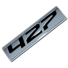 CHROME/BLACK METAL 427 ENGINE RACE MOTOR SWAP EMBLEM BADGE ZZ4 L88 HOT RAT ROD B