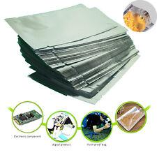 100 bolsas de lámina de Mylar de calidad alimentaria, sello de calor de aluminio sobre bolsa de almacenamiento todos los tamaños