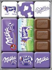 Milka Schokolade Alpenmilch Nostalgie Kühlschrank Magnet Set 9-teilig MAG28