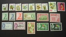 Fiji group of QE II mint stamps as shown. 2 photos  (lot  792)