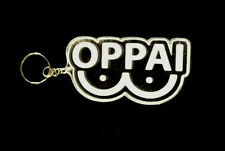 """Custom One Punch Man 3.75"""" Wide Oppai Word Laser Engraved Acrylic Keychain"""