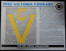 1925 Victoria Cougars NHL Patch Collection Willabee and Ward