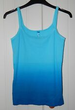 BNWOT Next Blue Dip Dye/Ombre Lacey-edge Summer Cami Vest Sleeveless Top size 8