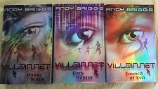 Andy Briggs 3 book set collection, VILLAIN.NET  Power Surge Dark Hunter Council
