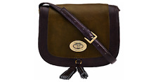 Tignanello Glazed Vintage Leather Saddle Crossbody Bag Purse Hunter NEW NWT