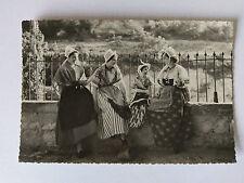 Les Baux de Provence France Vintage B&W Postcard c1938  Local costumes