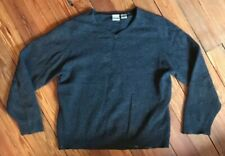 Cashmere Sweater vtg  hipster Gray Small With Holes & Paint