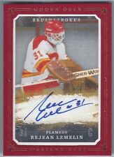 2008-09 UD Masterpieces Brushstrokes Autograph Red #MBRL Rejean Lemelin 1/10