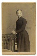 19th Century Fashion - Original Cabinet Card Photo - Lockport, NY