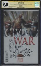 Civil War #1__CGC 9.8 SS__Signed by cast/directors of Captain America: Civil War