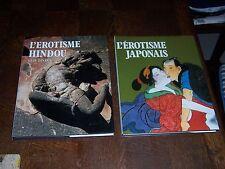 2 livres Erotisme Japonais et Hindou