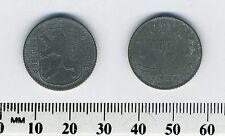 Belgium 1944 - 1 Franc  Zinc Coin - WWII - German Occupation - Dutch Legend - #5