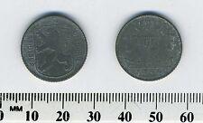 Belgium 1944 - 1 Franc  Zinc Coin - WWII - German Occupation - Dutch Legend - #5