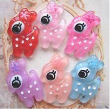 6 pc Cute Japanese Kawaii FlatBack Resin Decoden Cabochons