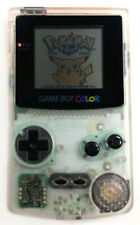 Clear White Refurbished Nintendo Game Boy Color GBC Console + Game Cartridge