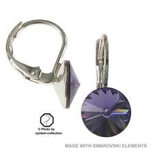 Ohrringe mit Swarovski Elements, Farbe: Tansanit