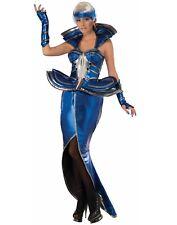 Lady Gaga Futuriste Science Fiction Cosmic Reine Bleu Femmes Costume - Std