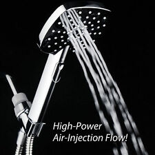 AirJet-400 High Pressure Handheld Shower Head With Push Button Flow Accelerator