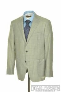 NWT - HICKEY FREEMAN Current Gray Plaid Wool MOHAIR Jacket Pants SUIT - 40 R