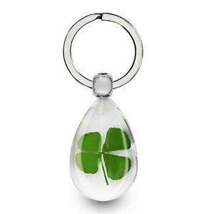 Schlüsselanhänger 4 Blättriges kleeblatt Klee Talisman 3D Glücksbringer