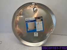 "Qty = 6: Camco 20800 20"" x 2.25"" Aluminum Water Heater Drain Pans w Pvc Fitting"