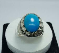 Dark Blue Nishapuri Feroza Ring Turquoise Rings New Elegant Men's Feroza Ring