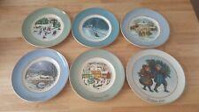 Enoch Wedgewood Avon Set Of 6 Christmas Scenes Decorative Plates