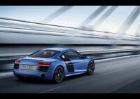 "BLUE AUDI R8 V10 NEW A4 CANVAS GICLEE ART PRINT POSTER 11.7"" x 8.3"""