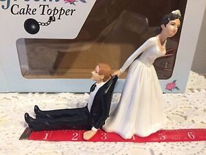 RELUCTANT GROOM CAKE TOPPER WEDDING PARTY NIB