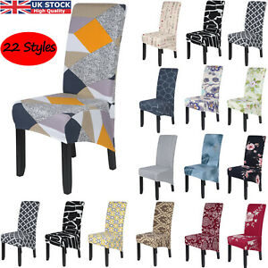 Dining Chair Covers Stretch High Back Seat Cover Slipcover Home Party Protective