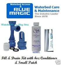 Waterbed Fill & Drain Kit w/ Blue Magic Water bed conditioner & Small Patch Kit